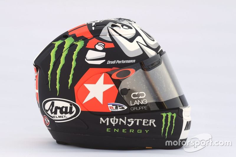 Il casco di Maverick Viñales, Yamaha Factory Racing