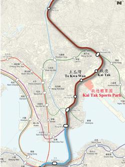 Conectividad de Kai Tak Sports Park