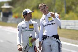 Mike Rockenfeller, Audi Sport Team Phoenix, Audi RS 5 DTM et Paul Di Resta, Mercedes-AMG Team HWA, Mercedes-AMG C63 DTM
