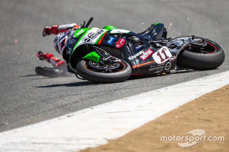 4. Saeed Al Sulaiti, Pedercini Racing, accidente en el sacacorchos