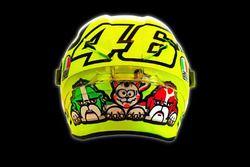 Il nuovo casco di Valentino Rossi, Yamaha Factory Racing