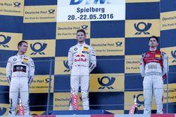 Podium: tweede plaats Tom Blomqvist, BMW Team RBM, BMW M4 DTM; winnaar Marco Wittmann, BMW Team RMG,