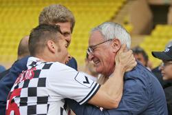 Claudio Ranieri, entraîneur de Leicester City, lors d'un match de football caritatif