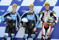 Polesitter Romano Fenati, Sky Racing Team VR46, second place Andrea Migno, Sky Racing Team VR46, thi