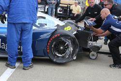 Max Chilton, Chip Ganassi Racing Chevrolet auto chocado