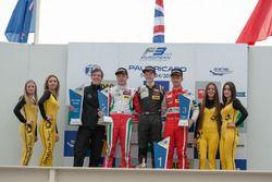 Podium, rostrum, Nick Cassidy, Prema Powerteam Dallara F312 – Mercedes-Benz, Callum Ilott, Van Amers