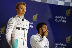 Podio: Carrera ganador de Nico Rosberg, de Mercedes AMG F1 y tercer lugar equipo compañero Lewis Ham