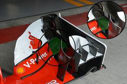 L'aileron avant de la Ferrari SF16-H
