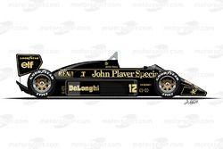 Lotus 98T, Ayrton Senna