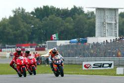 Tohru Ukawa, Repsol Honda Team Carlos Checa, Yamaha Team and Max Biaggi, Yamaha Team
