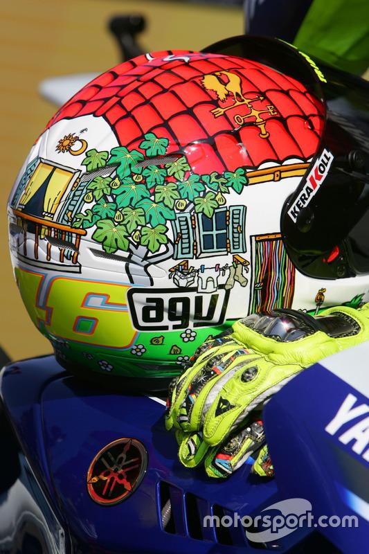 Helmet of Valentino Rossi