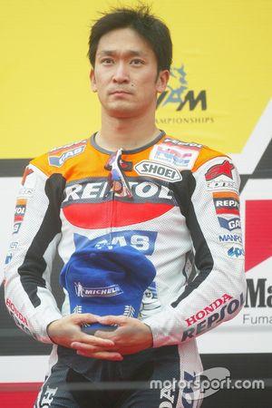 Podio: tercer lugar Tohru Ukawa, Repsol Honda Team