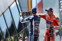 Ganador, Andrea Iannone, Ducati Team, tercero, Jorge Lorenzo, Yamaha Factory Racing