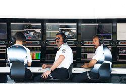 Eric Boullier, McLaren Racing Director and David Redding, McLaren Team Manager, on the pit wall.