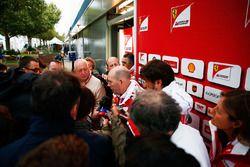 Jock Clear, Ferrari Engineering Director with the media