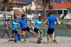 Antonio Felix da Costa, Timo Glock (DE, Marco Wittmann, Augusto Farfus and Tom Blomqvist, Beach Soccer