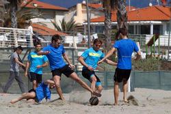 Antonio Felix da Costa, Timo Glock (DE, Marco Wittmann, Augusto Farfus and Tom Blomqvist, Beach Socc