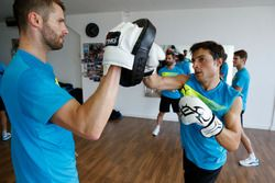 Martin Tomczyk and Bruno Spengler, Boxing