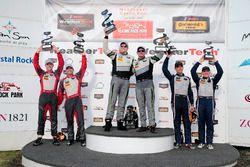 Podium GTD: Race winners #44 Magnus Racing Audi R8 LMS: John Potter, Andy Lally; second place #6 Stevenson Motorsports Audi R8 LMS GT3: Andrew Davis, Robin Liddell; third place #33 Riley Motorsports SRT Viper GT3-R: Ben Keating, Jeroen Bleekemolen