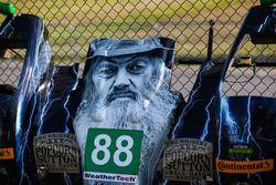 Hood of #88 Starworks Motorsport ORECA FLM09: Mark Kvamme, Richard Bradley