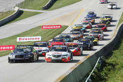 Start: #43 RealTime Racing Acura TLX-GT: Ryan Eversley leads