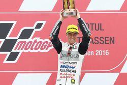 Podio: il vincitore Francesco Bagnaia, Aspar Team Mahindra