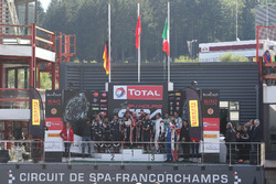 Podio National group e classe AM per #888 Kessel Racing, Ferrari F458 Italia GT3: Marco Zanuttini, L