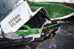 Lorenzo Bertelli, Simone Scattolin, Ford Fiesta WRC na een crash