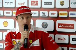 Kimi Raikkonen, Ferrari with the media