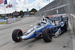 Max Chilton, Chip Ganassi Racing Chevrolet, choque