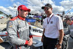 Race winner Will Power, Team Penske Chevrolet, Tim Cindric