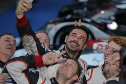 Toyota Racing team member are celebrating