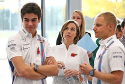 Valtteri Bottas, Lance Stroll, Claire Williams, Williams Deputy Team Principal