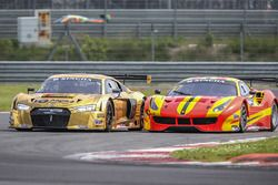 #5 Phoenix Racing Asia Audi R8 LMS GT3: Marchy Lee, Shaun Thong and #37 BBT Ferrari 488 GT3: Davide Rizzo, Anthony Liu