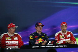 The post race FIA Press Conference: second place Kimi Raikkonen, Ferrari, race winner Max Verstappen