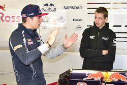 Richard Verschoor avec Max Verstappen, Scuderia Toro Rosso
