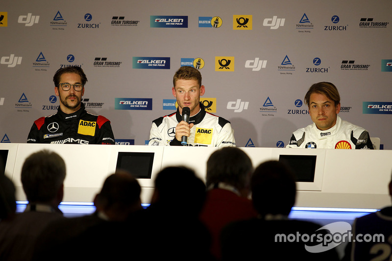 Press Conference: #88 Haribo Racing Team-AMG, Mercedes-AMG GT3: Maximilian Götz; #9 AMG-Team Black Falcon, Mercedes-AMG GT3: Maro Engel; #18 Schubert Motorsport, BMW M6 GT3: Augusto Farfus