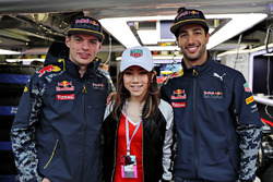 Max Verstappen, Red Bull Racing, Daniel Ricciardo, Red Bull Racing et G.E.M., chanteuse