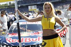 Grid girl of Marco Wittmann, BMW Team RMG, BMW M4 DTM