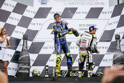Podium: tweede Cal Crutchlow, Team LCR Honda, derde Valentino Rossi, Yamaha Factory Racing