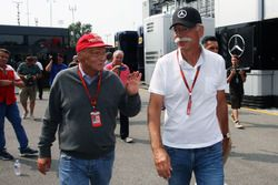 (L to R): Niki Lauda, Mercedes Non-Executive Chairman with Dr. Dieter Zetsche, Daimler AG CEO