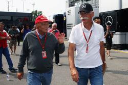 Niki Lauda, Mercedes Geschäftsführer mit Dr. Dieter Zetsche, Daimler AG CEO