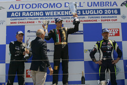 Podio gara 1: Ivan Bellarosa, Wolf GB08 SM-CN2, Walter Margelli, Norma-M20F-CN2, Davide Uboldi, Ligier JS Evo 2 E CN2