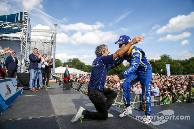 The Podium. Nicolas Prost, Renault e.Dams and Nicolas Prost, Renault e.Dams