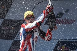 Podium: winner Sam Lowes, Federal Oil Gresini Moto2 celebrates with champagne
