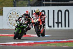 Jonathan Rea, Kawasaki Racing Team y Chaz Davies, Aruba.it Racing - Ducati Team
