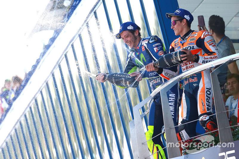 Podium: 1. Valentino Rossi, Yamaha Factory Racing; 3. Marc Marquez, Repsol Honda Team