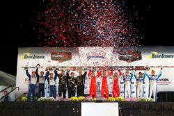 Podium: Prototype first place, #60 Michael Shank Racing with Curb/Agajanian Ligier JS P2 Honda: John