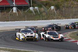#58 Garage 59 McLaren 650S GT3: Rob Bell, Alvaro Parente, #98 Rowe Racing BMW M6: Stef Dusseldorp, Nick Catsburg