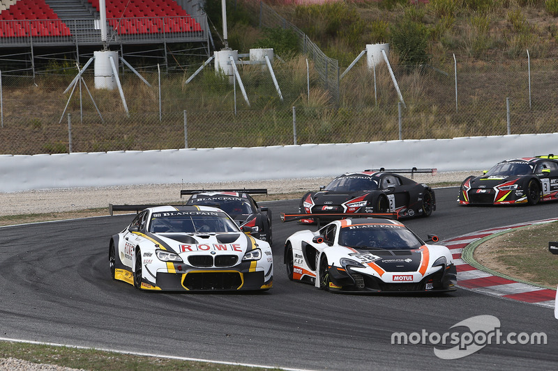 #58 Garage 59 McLaren 650S GT3: Rob Bell, Alvaro Parente, #98 Rowe Racing BMW M6: Stef Dusseldorp, N